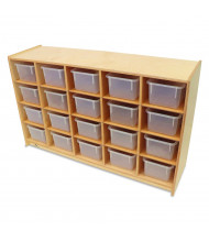 Whitney Brothers 20 Clear Tray Cubby Classroom Storage Unit