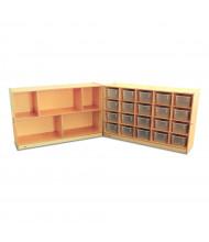 Whitney Brothers 20 Tray Mobile Folding Storage Cabinet