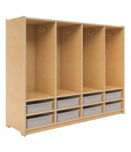 Whitney Brothers Clear Tray 4-Section Locker