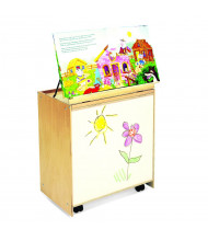 "Whitney Brothers 24"" W Mobile Big Book Display and Storage with Write and Wipe Markerboard"