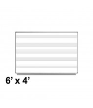 Luxor 6 x 4 Music Staff Magnetic Painted Steel Whiteboard