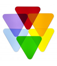 Whitney Brothers Color Wheel Triangles, Set of 6