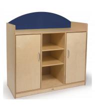 Whitney Brothers Rainbow Preschool Storage Cabinet, Blue