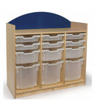 Whitney Brothers Rainbow Storage Unit with Clear Trays, Blue