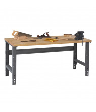 Tennsco Solid Hardwood Top Adjustable Leg Workbenches