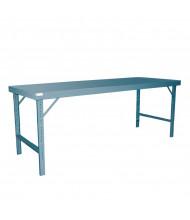 Durham Adjustable Height Folding Leg Steel Top Workbenches