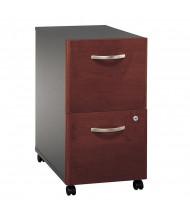 Bush Series C 2-Drawer File/File Mobile Pedestal (Shown in Hansen Cherry)