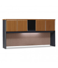 "Bush Series A 72"" W 4-Door Laminate Hutch, Natural Cherry (Shown with Task Light, Not Included)"