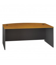 "Bush Series C WC72446 72"" W Bow Front Office Desk"
