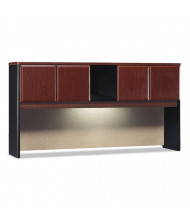 "Bush Series A 72"" W 4-Door Laminate Hutch, Hansen Cherry (Shown with Task Light, Not Included)"