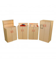 Wood Designs Classic Appliances Dramatic Play Set with Hutch