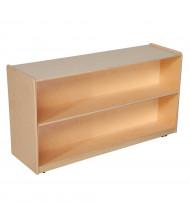 Wood Designs Childrens Classroom Storage 2-Shelf Bookshelf, Adjustable