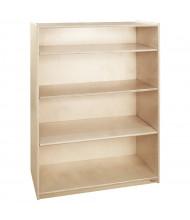 Wood Designs Childrens Classroom Storage 4-Shelf Bookshelf, Adjustable