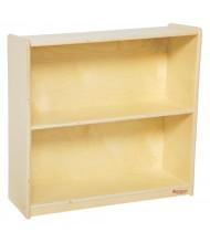 "Wood Designs 2-Shelf Classroom Bookshelf, Birch, 29.06"" H"