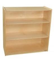 Wood Designs Childrens Classroom Storage 3-Shelf Bookshelf, Adjustable