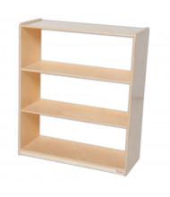 Wood Designs Childrens Classroom Storage 3-Shelf Bookshelf, Acrylic Back