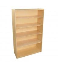 "Wood Designs 5-Shelf Classroom Bookshelf, Birch, 59.5"" H"