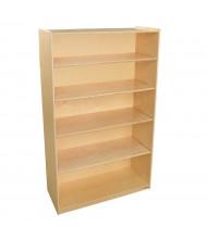 Wood Designs Childrens Classroom 5-Shelf Bookcase Storage Unit, Adjustable