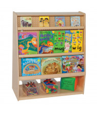 Wood Designs Childrens School Library Mobile Shelving Display and Storage Unit