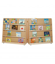 """Wood Designs 50"""" H Folding Double Sided Book Display (Example of Use)"""