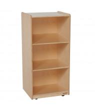 Wood Designs Childrens Classroom Storage 3-Shelf Mobile Bookshelf