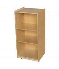 Wood Designs Childrens Classroom Storage 3-Shelf Mobile Bookshelf, Adjustable