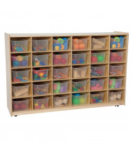 """Wood Designs 30-Cubby Classroom Storage with Clear Trays, 38"""" H x 58"""" W x 15"""" D"""