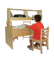 "Wood Designs 48"" W x 28"" D Elementary School Listening Center"