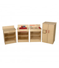 Wood Designs Tot Appliances Dramatic Play Set with Hutch (Shown in Red)