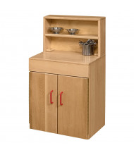 Wood Designs Maple Deluxe Hutch Dramatic Play Set (Utensils not included)