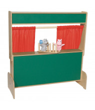 Wood Designs Deluxe Puppet Theater with Chalkboard (Shown in Red)