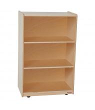 Wood Designs Childrens Classroom Storage 3-Shelf Mobile Shelving Unit