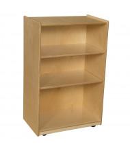 Wood Designs Childrens Classroom Storage 3-Shelf Mobile Shelving Unit, Adjustable