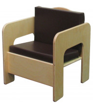"""Wood Designs 20"""" H Chair with Cushion (Shown with Brown Cushion)"""