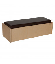 "Wood Designs 30"" W x 9"" H Double Bench (Shown with Brown Cushion)"
