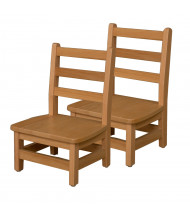 "Wood Designs 8"" H Hardwood Ladderback Classroom Chair, 2-Pack"