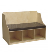 "Wood Designs 41"" W x 29"" H Reading Bench with Storage Shelves (Shown in Brown)"