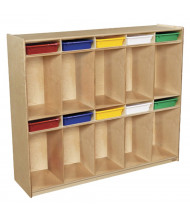 "Wood Designs Children's Classroom 10-Section Locker Storage with Trays, 49"" H x 58"" W x 15"" D (Shown with Assorted Trays)"