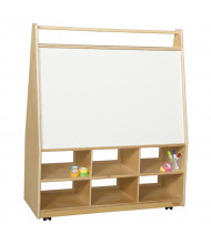 Wood Designs Childrens Classroom Mobile Art Storage and Book Display