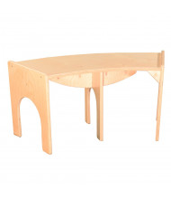 "Wood Designs Curved Benches (Shown in 36"" W)"