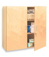 "Whitney Brothers 36"" W Locking Wall Storage Cabinet"