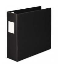 "Wilson Jones 3"" Capacity 8-1/2"" x 11"" Straight Ring 4-Pocket with Label Holder Non-View Binder, Black"