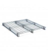 "Vestil 48"" W x 48"" L 4000 lb Capacity Galvanized Welded Wire Pallet"