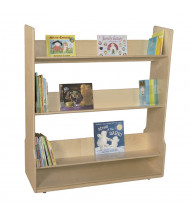 "Wood Designs 48"" W 3 Sloped-Shelf Mobile Book Cart"
