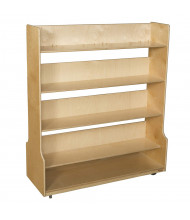 "Wood Designs 48"" W 4 Shelf Mobile Book Cart"