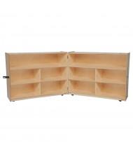 "Wood Designs Classroom Mobile 10-Space Storage Unit, Folding, Birch, 38"" H x 96"" W"