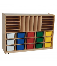 Wood Designs Childrens Classroom Multi-Storage Unit with Assorted Trays
