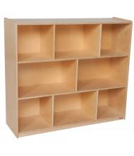 "Wood Designs Classroom Single Mobile Storage Unit, Birch, 43.62"" H x 48"" W x 15"" D"