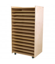 Wood Designs Childrens Classroom Puzzle, Paper and Games Storage Rack