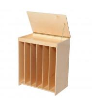 "Wood Designs Classroom Chalkboard and Book Storage Unit, Birch, 28"" H x 24"" W x 15"" D"